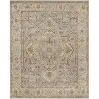 Safavieh Handmade Heritage Timeless Traditional Beige/ Grey Wool Rug - 6' x 9'