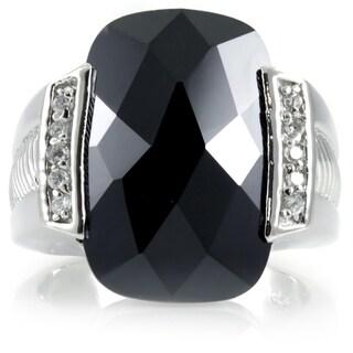 Sterling Silver Black CZ Estate Ring