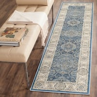 Safavieh Persian Garden Vintage Navy/ Ivory Distressed Silky Viscose Rug - 8' x 11'