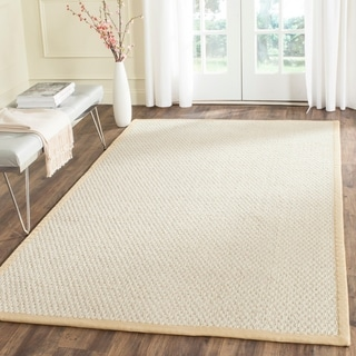 Safavieh Casual Natural Fiber Hand-Woven Silver / Grey Sisal Rug (6' x 9')