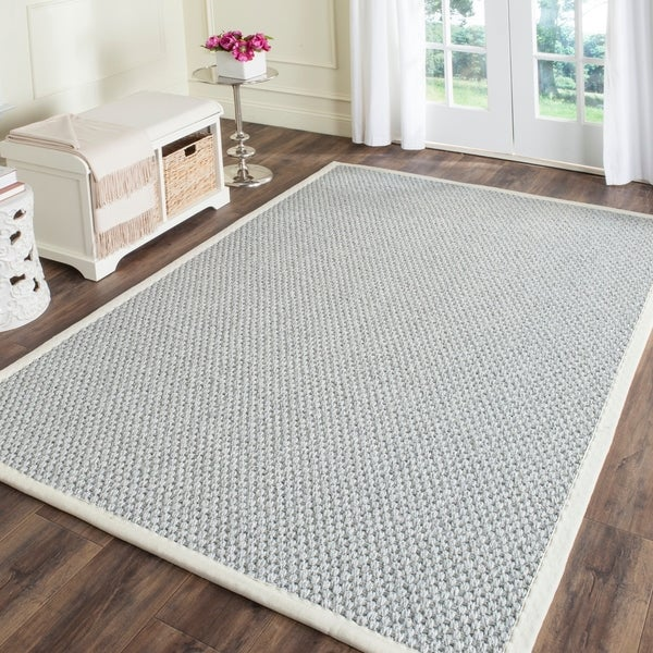 Safavieh Casual Natural Fiber Hand-Woven Silver / Grey Sisal Rug - 6' x 9'