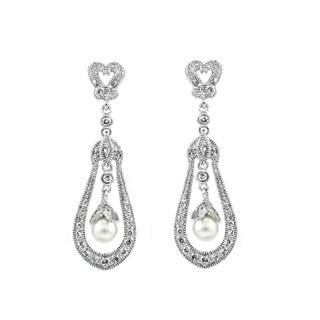 Imitation Pearl Wedding Bell Dangle Earring