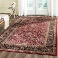 Safavieh Persian Garden Red/ Brown Viscose Rug - 6'7 x 9'2