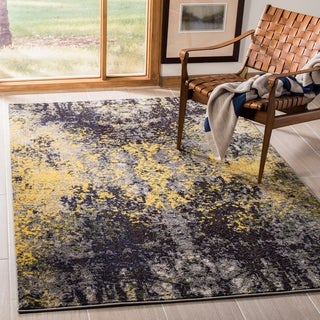 Safavieh Monaco Abstract Vintage Grey / Multi Distressed Rug (6'7 x 9'2)