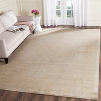 Safavieh Vintage Oriental Cream Distressed Silky Viscose Rug - 8' x 11'2