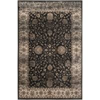 Safavieh Persian Garden Vintage Black/ Ivory Distressed Silky Viscose Rug - 8' x 11'