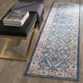 Safavieh Sofia Vintage Trellis Blue/ Beige Rug (6'7 x 9'2)