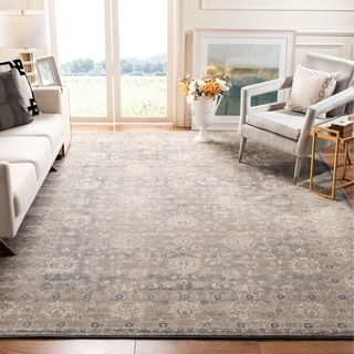 Safavieh Sofia Vintage Oriental Light Grey / Beige Distressed Rug (6'7 x 9'2)