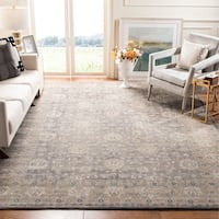 Safavieh Sofia Vintage Oriental Light Grey / Beige Distressed Rug - 6'7 x 9'2