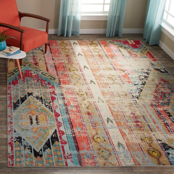 Safavieh Monaco Vintage Bohemian Multi Colored Distressed