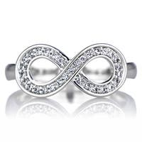 Sterling Silver Cubic Zirconia Infinity Promise Ring