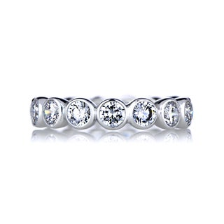 Sterling Silver Round Cut CZ Eternity Ring