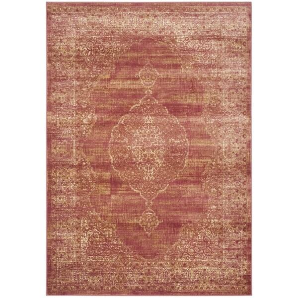 Safavieh Vintage Oriental Rust Distressed Silky Viscose Rug - 8' x 11'2