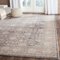 Ehsan Vintage Oriental Light Grey / Beige Distressed Rug - 8' X 11'