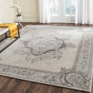 Safavieh Handmade Empire Beige/ Light Grey Wool Rug (7'6 x 9'6)