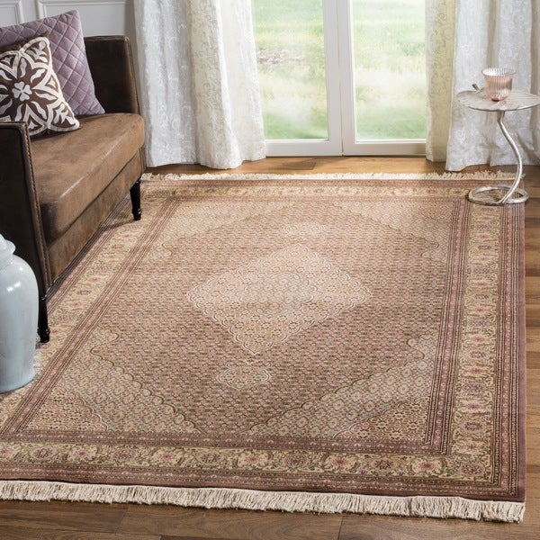 Safavieh Hand-knotted Tabriz Herati Multi Wool/ Silk Rug - 4'6 x 6'6