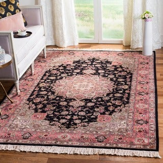 Safavieh Hand-knotted Tabriz Floral Multi Wool/ Silk Rug (6' x 9')