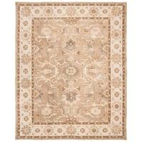 Safavieh Handmade Anatolia Oriental Tan/ Ivory Hand-spun Wool Rug (8' x 10')
