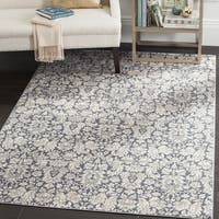 Safavieh Vintage Damask Navy/ Cream Distressed Rug - 3'3 x 5'3