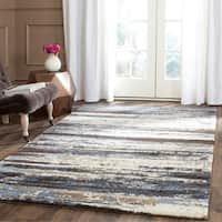 Safavieh Retro Modern Abstract Cream/ Blue Distressed Rug - 6' x 9'