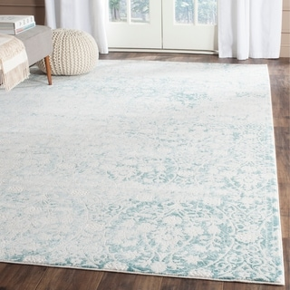 Safavieh Passion Watercolor Vintage Turquoise / Ivory Rug (6'7 x 9'2)