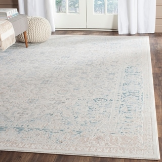 Safavieh Passion Watercolor Vintage Turquoise/ Ivory Distressed Rug (8' x 11')