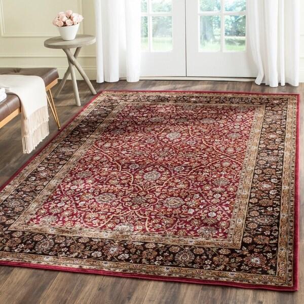 Safavieh Persian Garden Red/ Brown Viscose Rug - 4' x 5'7