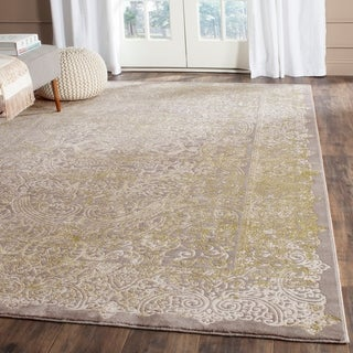 Safavieh Passion Watercolor Vintage Grey / Green Rug (8' x 11')