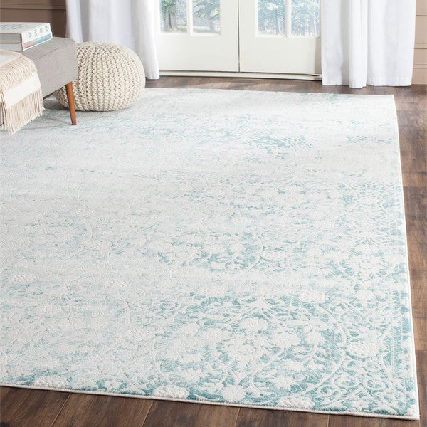 Safavieh Passion Vintage Wash Turquoise/ Ivory Distressed Rug - 8' x 11'