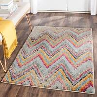 Safavieh Monaco Vintage Chevron Multicolored Distressed Rug - multi - 6'7 x 9'2