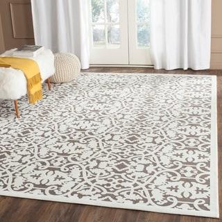 Safavieh Paradise Ivory/ Dark Grey Viscose Rug (8' x 10')
