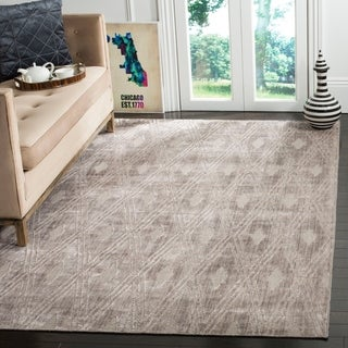 Safavieh Handmade Mirage Modern Grey Wool/ Viscose Rug (6' x 9')