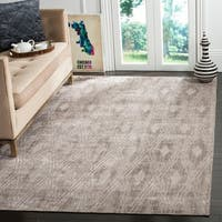 Safavieh Handmade Mirage Modern Grey Wool/ Viscose Rug - 6' x 9'