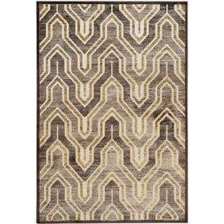 Safavieh Paradise Kinneret Modern Viscose Rug (76 x 106 - Creme/Brown)