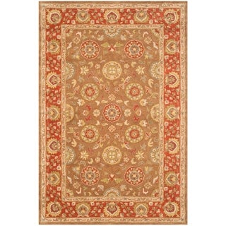 Safavieh Handmade Heritage Timeless Traditional Beige/ Rust Wool Rug (6' x 9')