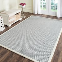 Safavieh Casual Natural Fiber Hand-Woven Silver / Grey Sisal Rug - 4' x 6'