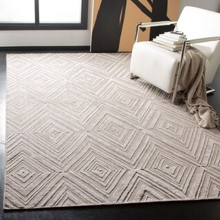 Safavieh Handmade Mirage Mid-Century Modern Grey Wool/ Viscose Rug (8' x 10')