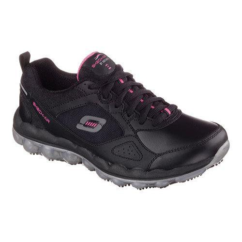 Women's Skechers Work Relaxed Fit Skech-Air Slip Resistant Sneaker Black/Pink  - Free Shipping Today - Overstock.com - 17556628