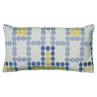 Rizzy Home Khaki And Blue Rectangle Pillow Cover