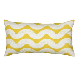 Rizzy Home Yellow And White Rectangle Pillow Cover