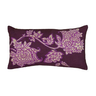 Rizzy Home Purple Rectangle Pillow Cover