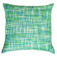 Rizzy Home Green And White Square Pillow Cover