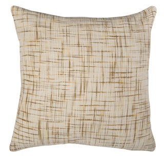 Rizzy Home Gold And White Square Pillow Cover