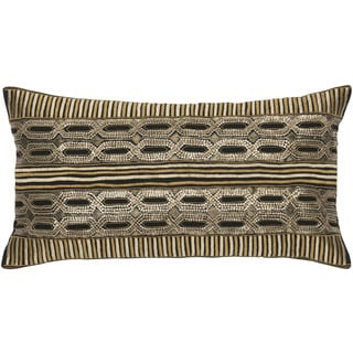 Rizzy Home Black And Gold Rectangle Pillow Cover
