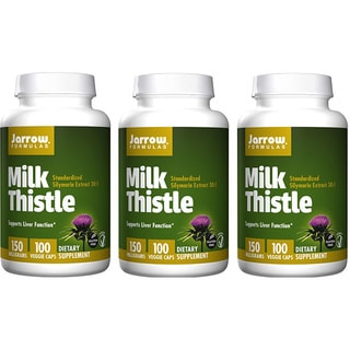 Jarrow Formulas 100 Capsules 150 MG Milk Thistle (Pack of 3)