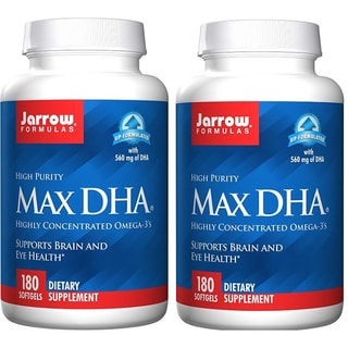 Jarrow Formulas 180 Softgels Max DHA (Pack of 2)