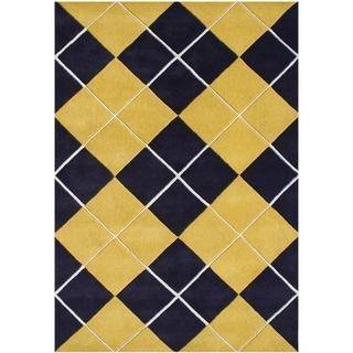Alliyah Handmade Corn New Zealand Blend Wool Rug (5' x 8')