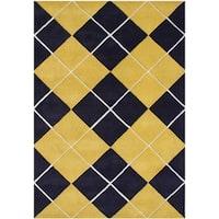 Alliyah Handmade Corn New Zealand Blend Wool Rug (5' x 8') - 5' x 8'