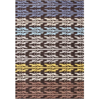Alliyah Handmade Black Olive New Zealand Blend Wool Rug (5' x 8')