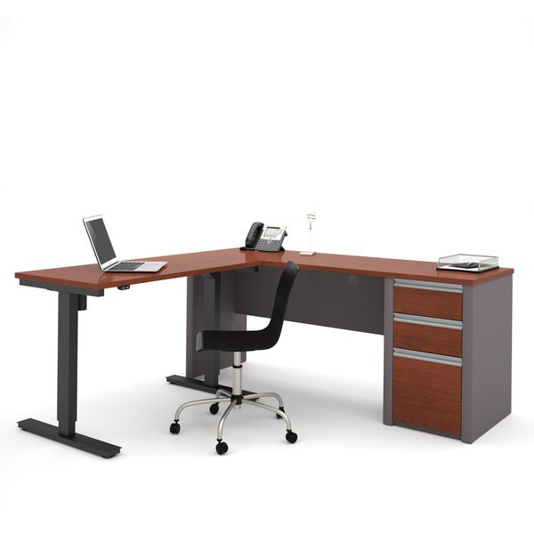 Bestar Connexion L-Desk including Electric Height Adjustable Table. Opens flyout.